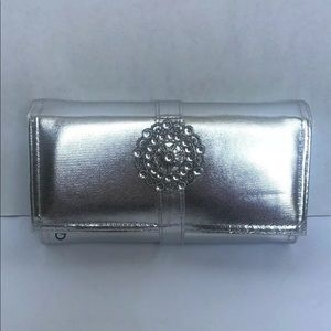 Silver Travel Trifold Jewelry Organizer Wallet